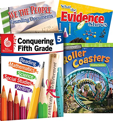 Conquering Fifth Grade, 4-Book Set – Fun Practice Workbook and 3 Reading Books for Kids Ages 11-13 to Prepare for 5th Grade