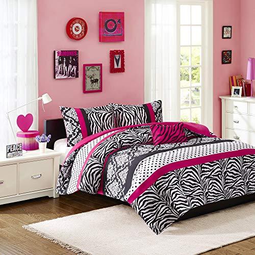 Mi Zone Mizone Reagan Comforter Set-Pink-Full/Queen