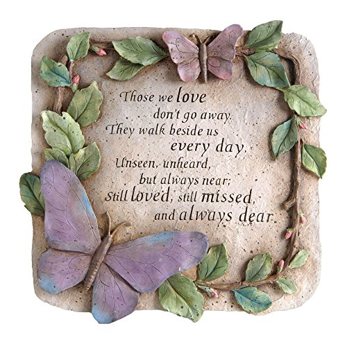 """New Creative Evergreen Garden Those We Love Don't Go Away Polystone Memorial Stepping Stone - 10""""W x 1""""D x 10""""H"""