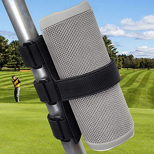 Upgraded Portable Speaker Mount for Golf Cart Railing Bike,TOOVREN Wireless Bluetooth Speakers/Water Bottle Holder Adjustable Strap fit Most Speaker,Golf Cart Accessories Applicable to Rail/Cross bar