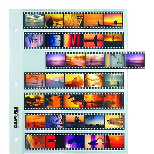 Clear-File Archival-Classic Storage Page for Negatives, 35mm - 25 Pack