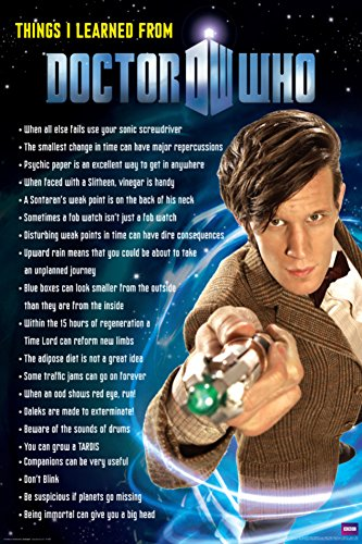 Doctor Who - Things I Learned Poster 24 x 36in