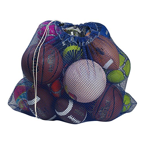 """Mesh Equipment Bag, Royal Blue - 24"""" x 36"""" - Adjustable, sliding drawstring cord closure. Perfect mesh bag for parent or coach, making it easy to transport and keeping your sporting gear organized."""