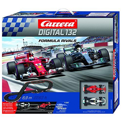 Carrera 20030004 Formula Rivals Digital 132 Scale Slot Car Racing Track Set System 1:32 Scale,Multi