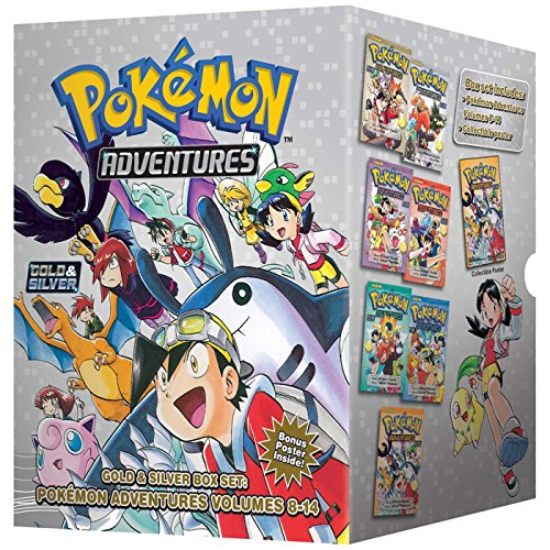 Pokémon Adventures Gold & Silver Box Set (Set Includes Vols. 8-14) (Pokémon Manga Box Sets)