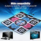 Pokerty Dance Mat, PC Dance Pad, Environmental Friendly and Non-Slip Dancer Blanket with USB, Suitable for Most PC, Support Windows 98/2000/ Xp/ 7 Os