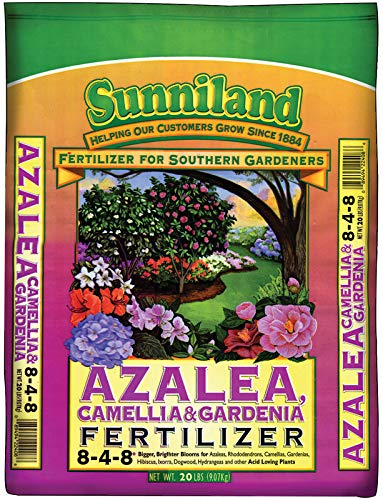 Sunniland Azalea , Camellia And Gardenia Fertilizer 8-4-8 Granules 20 Lb.