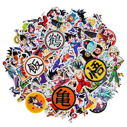 200 PCS Dragon Ball Z Stickers, Waterproof Anime Stickers for Water Bottles Removable Vinyl Cool Stickers for Car Laptop Luggage MacBook Skateboard Stickers