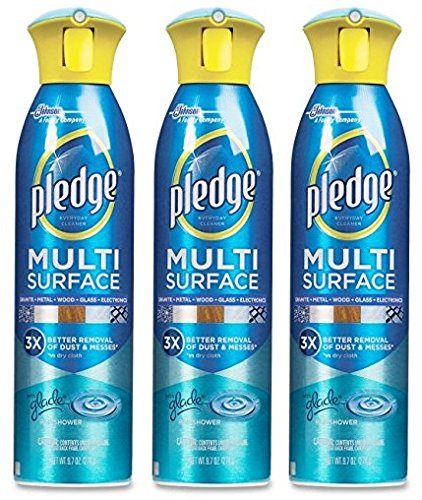 Pledge 72416 9.7-oz Rain shower scent Multi surPledge 72416 9.7-oz Rain shower scent Multi surface spray cleaner Pack of 3face spray cleaner Pack of 3