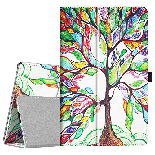 Fintie Folio Case for Samsung Galaxy Tab A 10.1 2019 Model SM-T510/T515/T517, Slim Fit Premium Vegan Leather Stand Cover, Love Tree