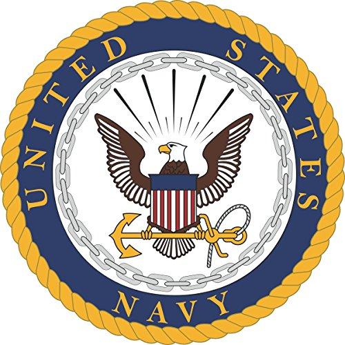 US Navy United States Navy U.S. Navy Seal Military Veteran Served Window Bumper Sticker Vinyl Decal 3.8'