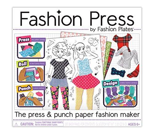 Kahootz Fashion Press Paper Fashion Maker Deluxe Activity Kit, Multi-Colored (1355Z)