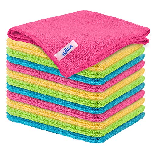 MR.SIGA Microfiber Cleaning Cloth,Pack of 12,Size:12.6' x 12.6'