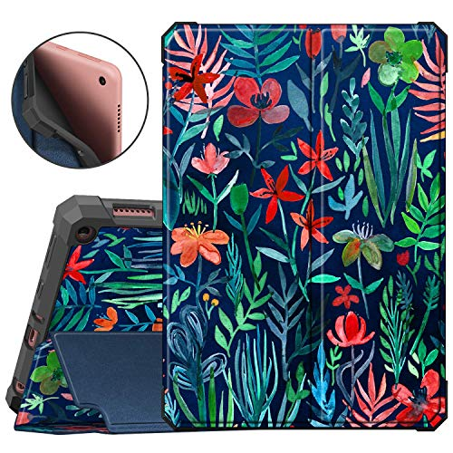 Fintie Case for All-New Fire HD 8 and Fire HD 8 Plus Tablet (10th Generation, 2020 Release) - [Flex Stand] Slim Folding Protective Cover with Soft TPU Back Shell, Auto Sleep/Wake, Jungle Night