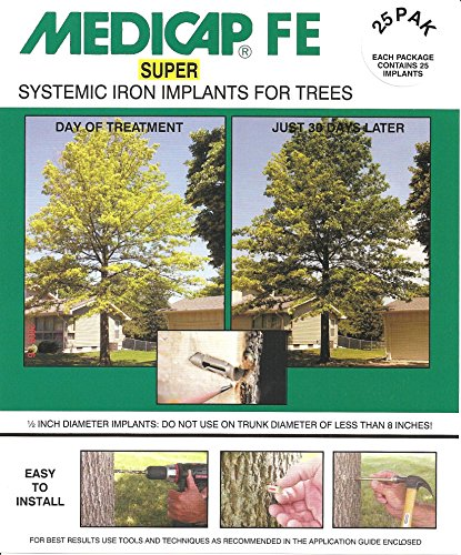 Medicap 25-Pack FE SUPER Systemic Iron Tree Implants for Control of Iron Chlorosis, 1/2-Inch