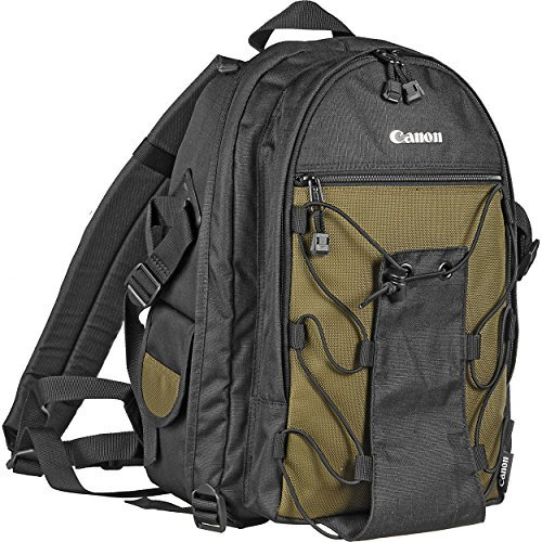 Canon Deluxe Photo Backpack 200EG for Canon EOS SLR Cameras (Black with Green Accent)