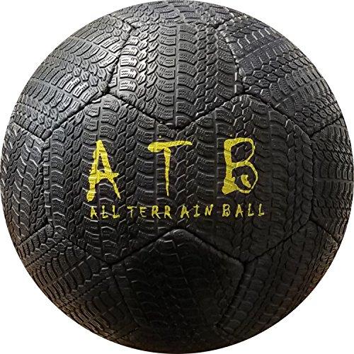 American Challenge All Terrain Outdoor Rubber Soccer Ball (Black, 4)