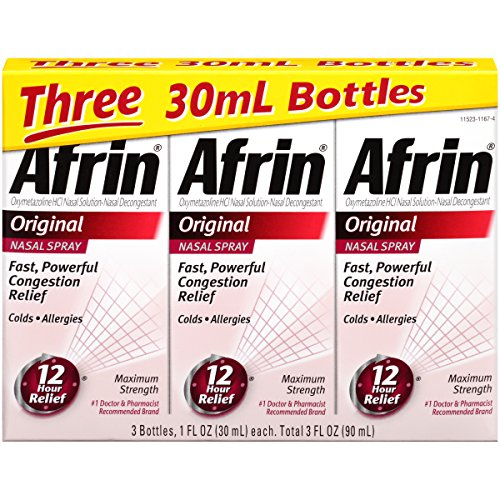 Afrin Original Nasal Spray, 3 Count