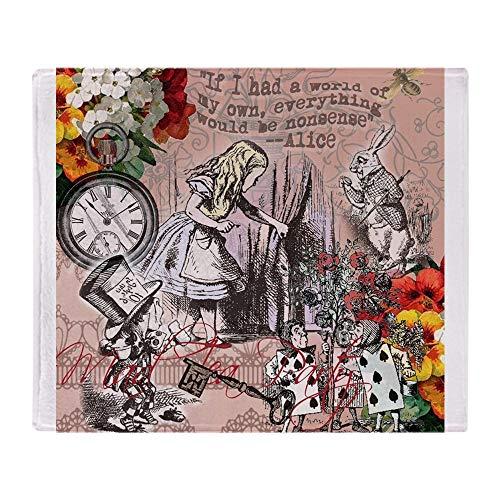 CafePress Alice in Wonderland Vintage Adventures Throw Blank Soft Fleece Throw Blanket, 50'x60' Stadium Blanket