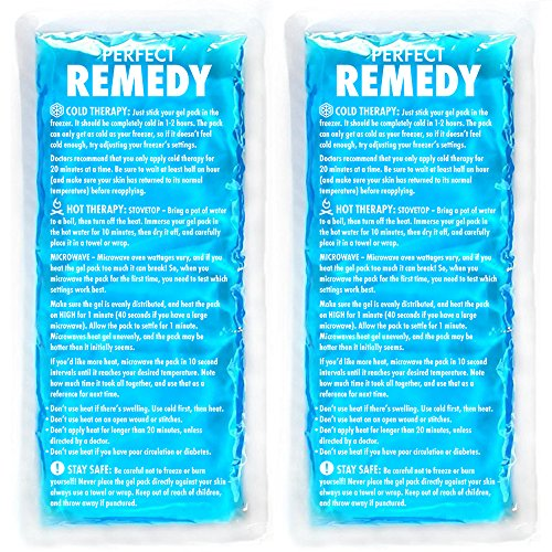 Gel Ice Packs for Injuries (2 Pack) – Reusable Cold/Hot Compress for Injury, Pain Relief, Rehabilitation, Flexible Therapy for Knee, Shoulder, Back, Neck, Ankle