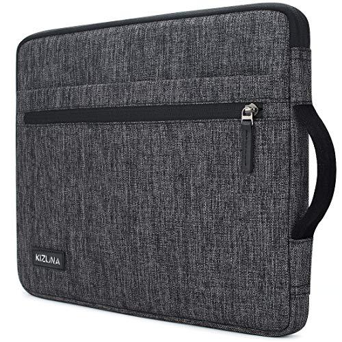 kizuna 14 Inch Laptop Sleeve Case Water-Resistant Computer Carrying Bag Notebook Handbag for Lenovo Flex 14/14' HP EliteBook 840 G5/HP Pro 14 G3/Dell Latitude 7490 5490/15' Surface Laptop 3, Grey