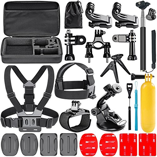 Navitech 18 in 1 Action Camera Accessories Combo Kit with EVA Case Compatible with The xcelvan TC-DV6, TC-Y8, TC-J6, TC-Q5, Q5, Q6 2.0 & Q8 4K 16MP 1080P 12MP H.264 WiFi Sports Camera