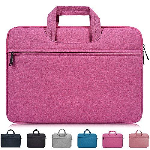 11-11.6-12 Inch Laptop Sleeve Bag,Girl/Lady Notebook Case Handbag Briefcase for Apple Acer Asus HP Dell Toshiba Samsung Lenovo Chromebook Portable Notebook Tablet Bag,Waterproof/Shockproof,Rose Red