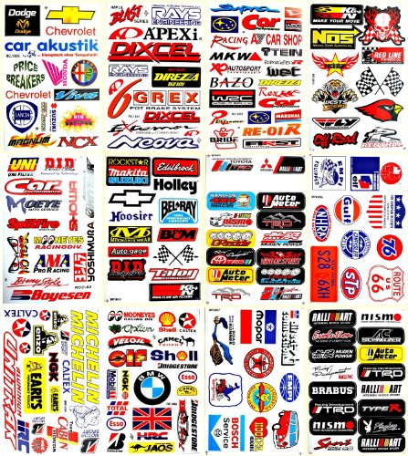 Motorsport Cars Nhra Drag Racing Lot 12 Vinyl Decals Stickers D1202